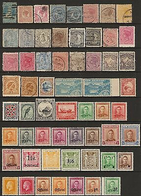 New Zealand QV - GVI stamps (59) Mint & Used/Fine Used mixed condition