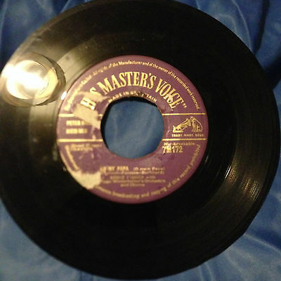 """Eddie Fisher """"oh My Papa"""" Rare Early Uk 1953 Gold Label Columbia 45"""