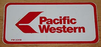 Old Pacific Western (Canada) Airline Sticker