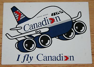 Old Canadian Airlines Boeing 747-400 Funplane Sticker