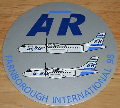 1998 Farnborough International Airshow ATR42 + ATR72 Sticker