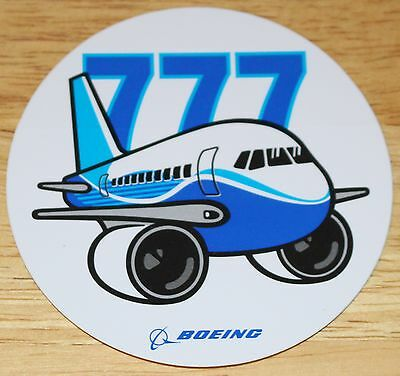 Official Boeing 777 Pudgy plane Sticker