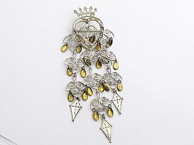 ANTIQUE SILVER AND GILT SOLJE OR BUNARD BROOCH by Karl A Rasmussen of Norway