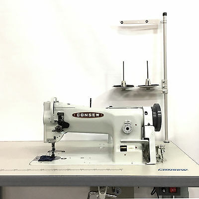 Consew 206RB-5 Single Needle Walking Foot Leather and Upholstery Sewing Machine