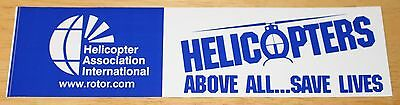 "Large HAI ""Helicopters Above All ... Save Lives"" Helicopter Sticker"