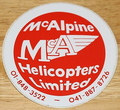 Old McAlpine Helicopters Limited (UK) Sticker