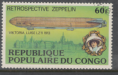 CONGO 1977 60fr Zeppelin Very Fine Used
