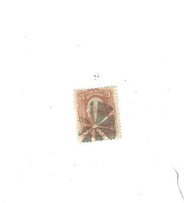 94 used 3 cent stamp of 1867