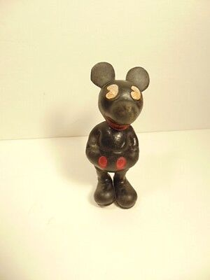 Vintage Seiberling Latex/ Rubber Mickey Mouse figure from 1930s