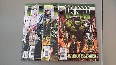 (2007) Marvel Comics World War Hulk Variant Set #1,2,3,4,5 + Prologue Nm+