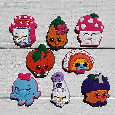 Lovely 100PCS Shopkins shoe charms for Bands JIBZ,PVC shoe Accessories kid gifts