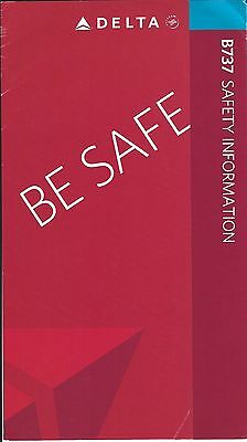 Safety Card - Delta - B737 - 2008 (S2035)