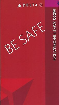 Safety Card - Delta - MD 90 - 2007 (S1900)