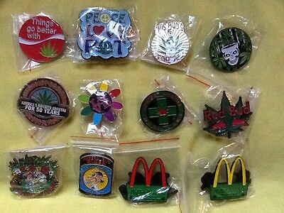 12 Collection Marijuana  Pot 420 Grateful Dead Relix  Pin Pins