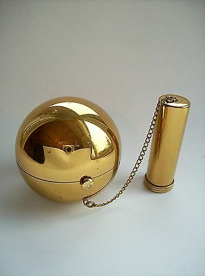 Vintage Figural BALL & CHAIN Novelty Powder Compact Makeup Case Wadsworth