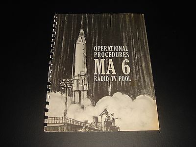 Rare Vintage Official Nasa/nbc News  Mercury Atlas 6/john Glenn Coverage Plan