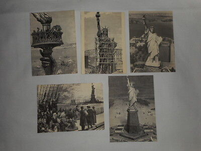 STATUE of LIBERTY Lot of 5 Never Used POSTCARDS Based on Scenes 1880's