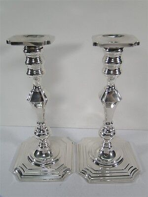 "Fabulous Pair REDLICH & Co 9-1/4"" Sterling Silver Fancy Columns CANDLESTICKS"