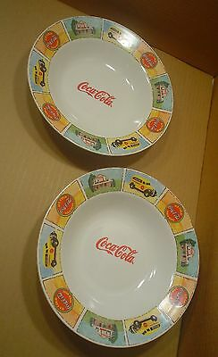 Gibson Coca-Cola ~ 2 Soup / Cereal 9 Inch Bowls ~ Good Ol' Days