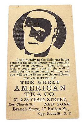 Trade Card Great American Tea Co (A&P) Optical Illusion General U.S.Grant