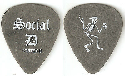SOCIAL DISTORTION-SOCIAL D--Authentic Tour GUITAR PICK--RARE! CHARCOAL/WHITE!
