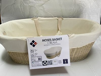 Brand New Natures Pure Moses Basket Carry Cot  Baby Sleep