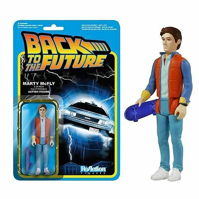 NEW BACK TO THE FUTURE Marty McFly ReAction Poseable Figure - Funko 3915