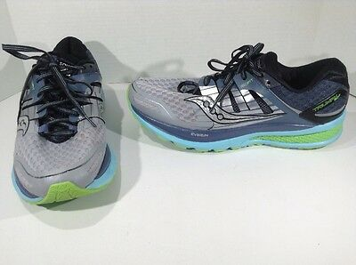SAUCONY Mens Triumph Iso 2 Gray Running Training Athletic Shoes Size 11 ZF-243