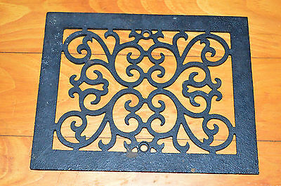 "Antique Victorian Ornate Cast Iron Heat Register Floor Grate 7.75"" x 9.75"""