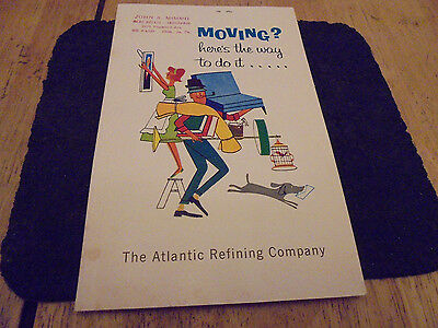 Vintage 1962-63 Atlantic Refining Company Moving Book. Top Shape. Cool Advertisi