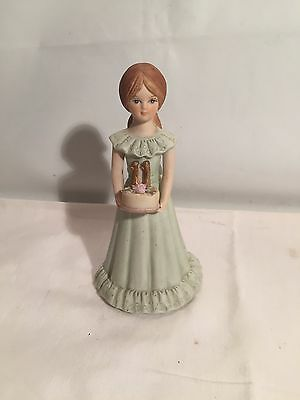 Vintage Porcelain Growing Up Birthday Girls Age 11 Blonde Figurine EnescO