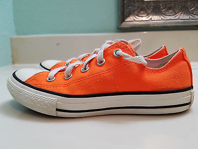 Converse Chuck Taylor All Star Canvas Sneakers Unisex Orange Youth Sz 1