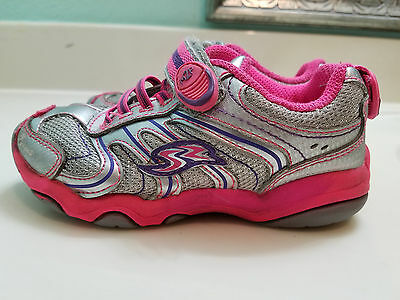 Stride Rite Girl's Athletic Shoes Silver Pink  Child/Toddler Sz 9