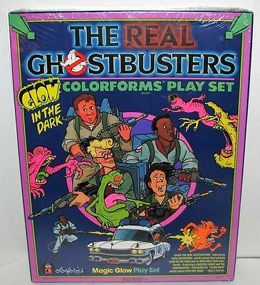 Vintage 1986 Colorforms The Real Ghostbusters GLOW IN THE DARK Play Set SEALED