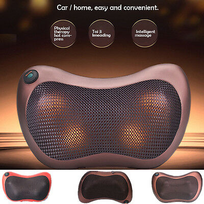 Home Car Pillow Neck Lumbar Full Body Electric Massage Cushion Physiotherapy 12V