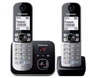 Panasonic Cordless Phone - Twin Pack - KX-TG6822ALB