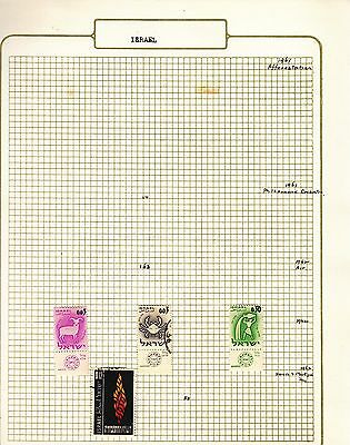 ISRAEL  on album page stamps removed for shipping(k)