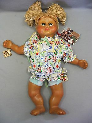 Vintage 1988 Naber Kids Freida Wooden Urethane Doll All Original with COA Tag