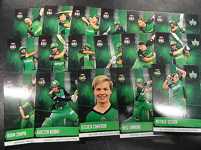 2016/17 Cricket Tap N Play Team Set Melbourne Stars