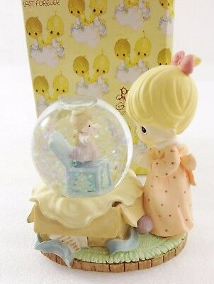 Precious Moments 465364 Girl with Gift Mini Waterball NEW in Box 1998 3 1/2""