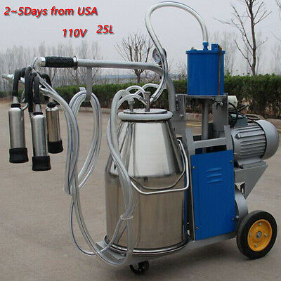 UPS* Electric Milking Machine Milker For farm Cows Bucket Stainless Steel Bucket