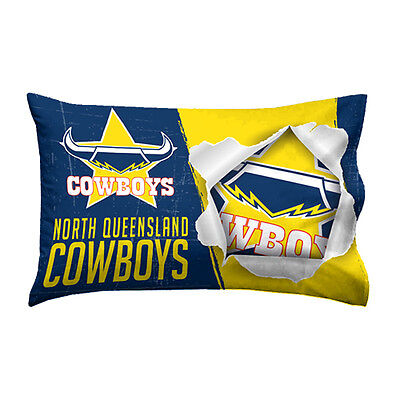 North QLD Queensland Cowboys NRL Pillow Case Pillowcase Birthday Gift *NEW 2017*