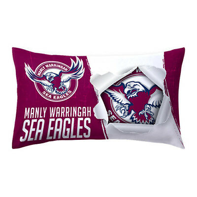 Manly Warringah Sea Eagles NRL Pillow Case Pillowcase Birthday Gift *NEW 2018*