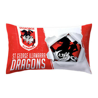 St George Illawarra Dragons NRL Pillow Case Pillowcase Birthday Gift *NEW 2018*