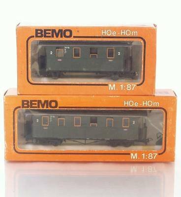 BEMO -3007 3008  HOe OO9 Model Railways - 2x Narrow Gauge Passenger Coaches