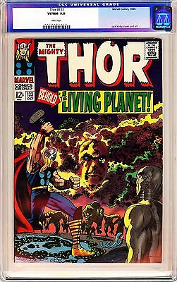 """THOR #133 STAN LEE (1966) CGC 9.0 WP """"1st full Appearance Ego!!"""" OLD CGC LABEL!"""