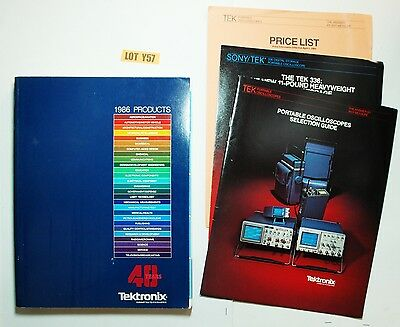 Tektronix Product Catalog & Price List 1986 OSCILLOSCOPE SELECTION GUIDE Y57