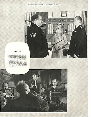1955 Film Trade Magazine Page The Ladykillers Alec Guinness Peter Sellers