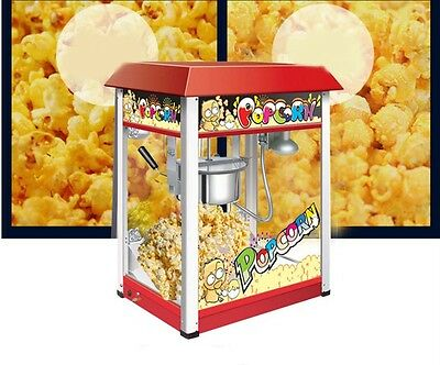 New Commercial Popcorn Non Stick Pan Automatic Stainless Steel Popcorn Machine *