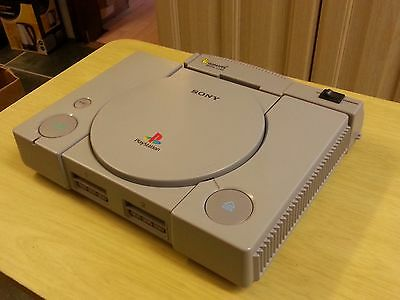 Sony  Ps1 Playstation 1  Console With Gamars Movie/cheat Card Gwo L@@k
